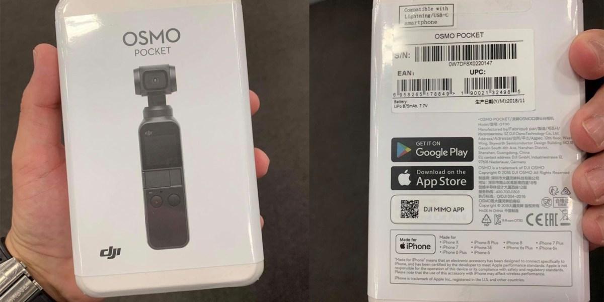 DJI Osmo Pocket surfaces again