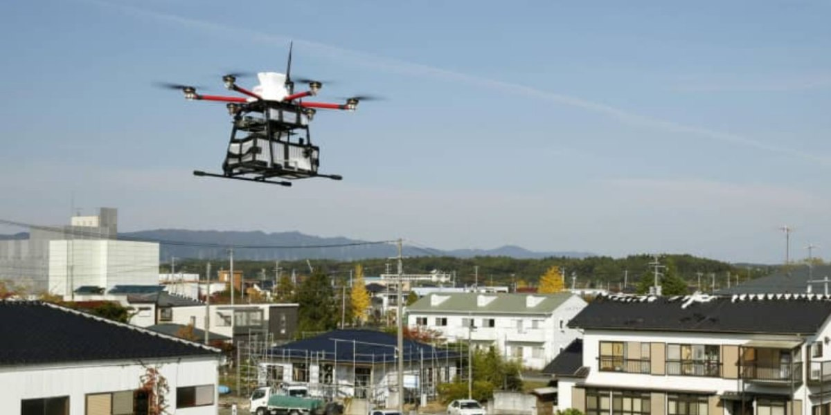 Drone document delivery service launched in Fukushima, Japan