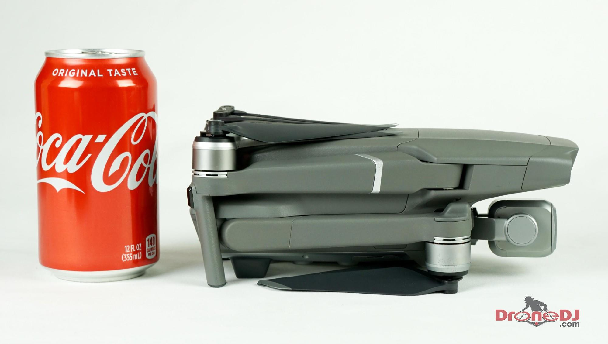 Mavic 2 Pro Side View with Coke can
