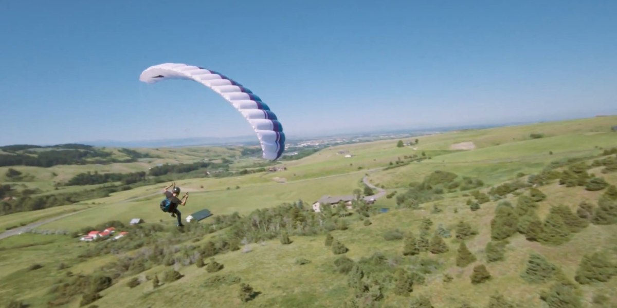 Paraglider meets drone