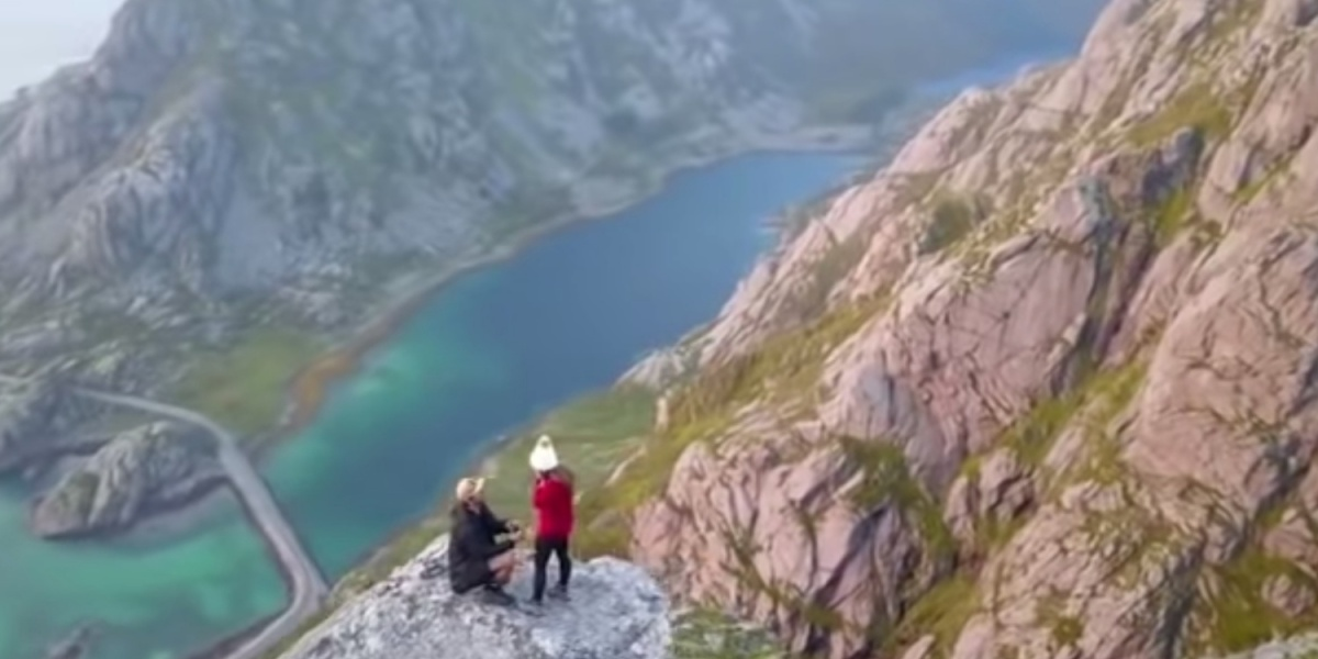 DroneRise - Marriage proposal captured by drone