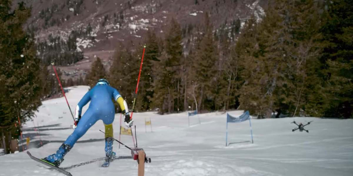 Skier versus FPV drone racer. Who wins? [video]