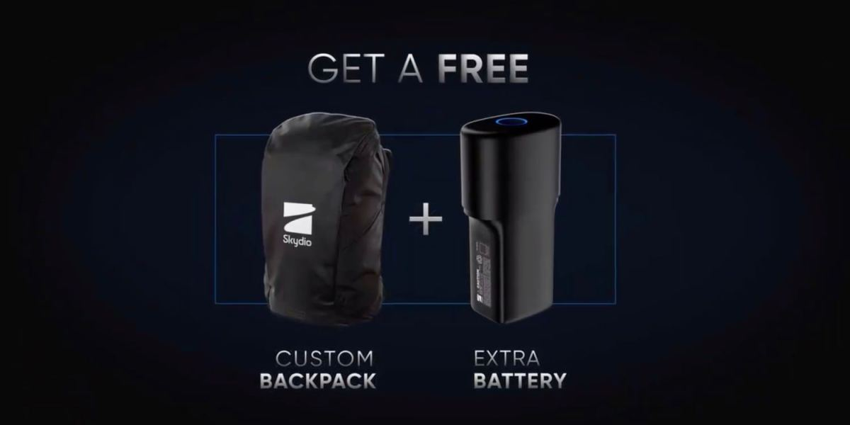 Skydio R1 Black Friday promotion: Free backpack and battery - $278 value