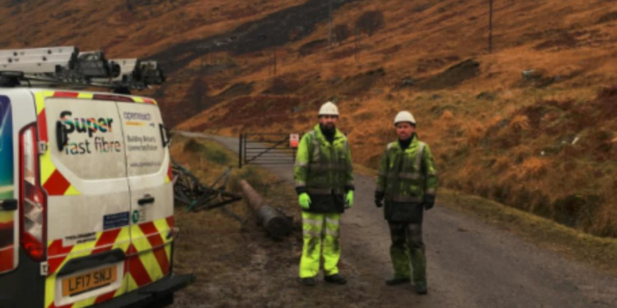 Drone used to restore communications after landslide in Scottish Highlands