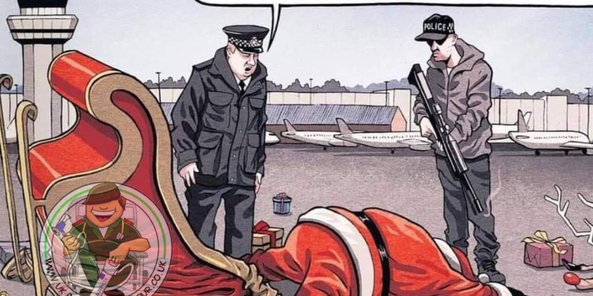 Gatwick Airport fiasco Drone Santa Shot