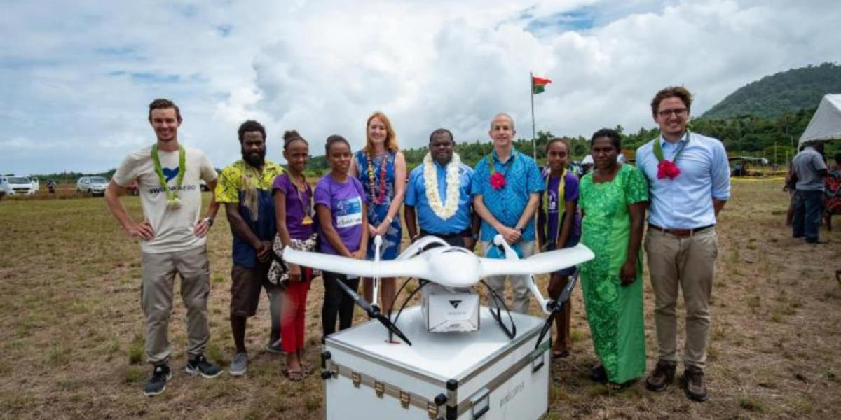 Vaccines delivered by drone in island nation of Vanuatu