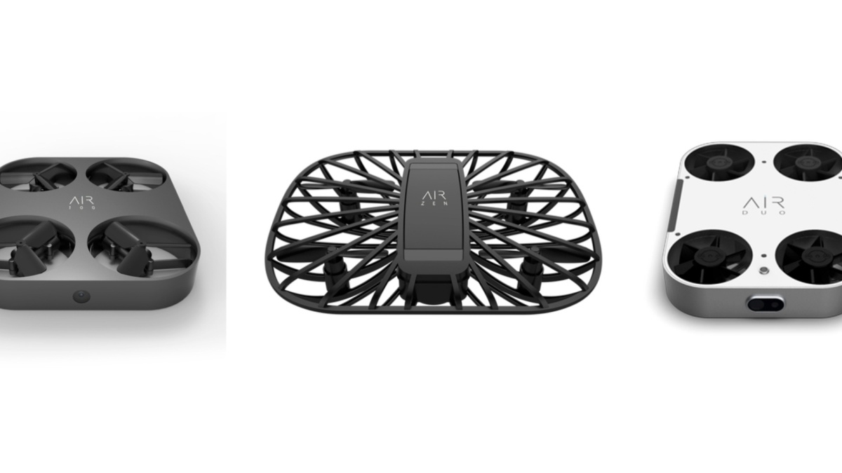 AirSelfie introduces three new aerial cameras or drones at CES 2019. The company is known for the smallest, easiest, most portable drones unveiled three new aircraft at CES: the AIR 100, the AIR ZEN and the AIR DUO.
