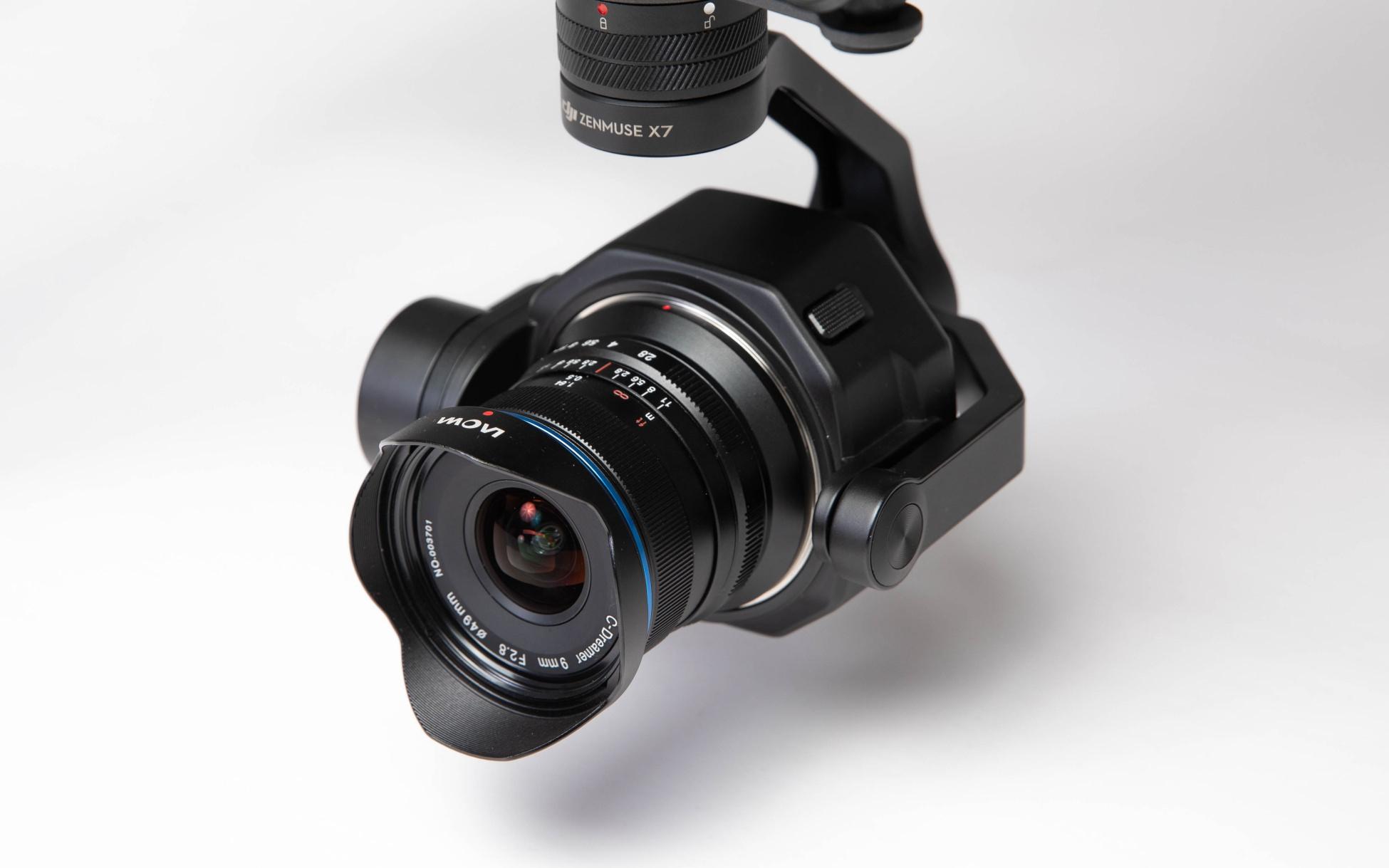 Venus Optics Laowa 9mm f/2.8 Zero-D lens for the Zenmuse X7