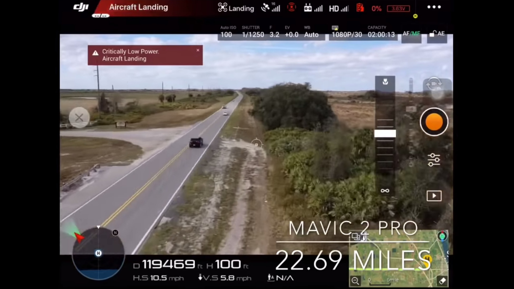 Man flies Mavic 2 Pro more than 22 miles over a busy road