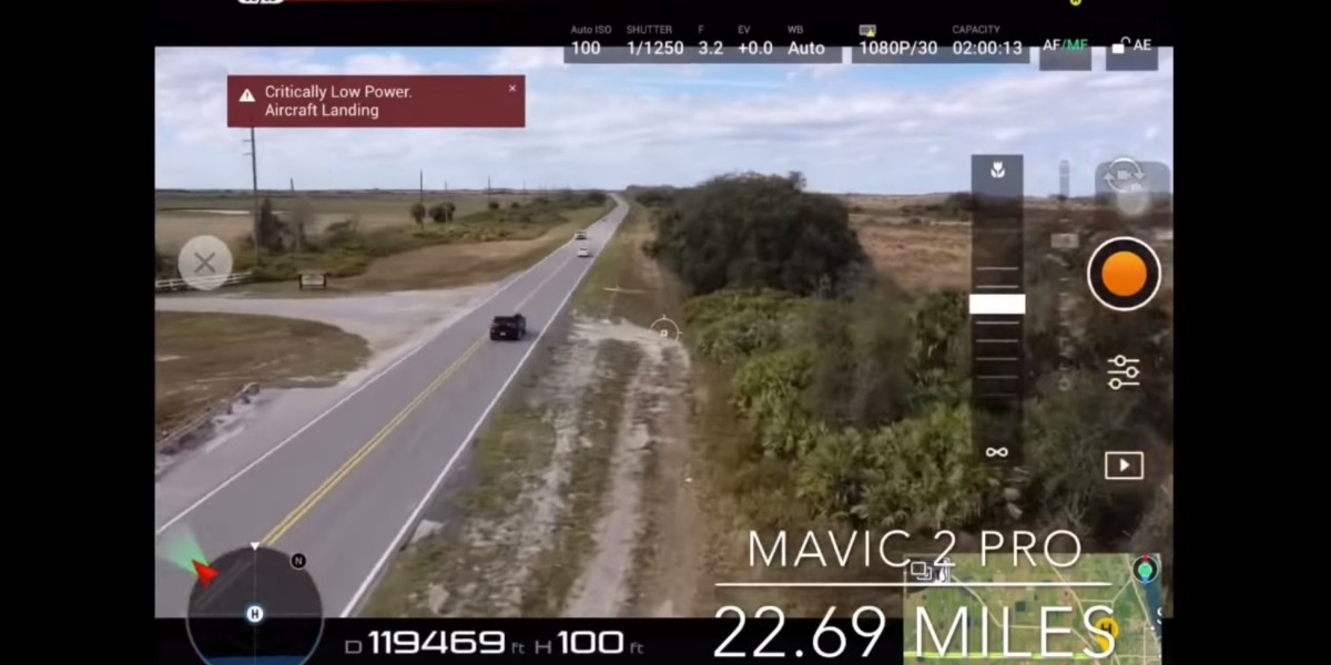 Man flies Mavic 2 Pro for more than 22 miles over a busy road in Florida