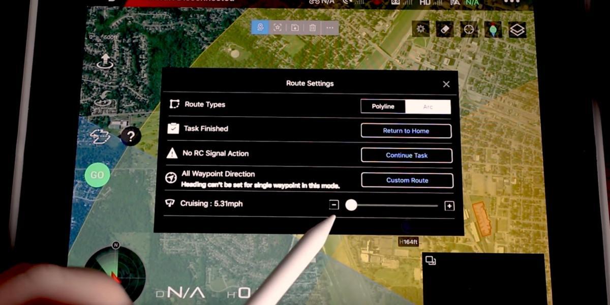 Waypoints for the Mavic 2 in DJI Go 4 app update