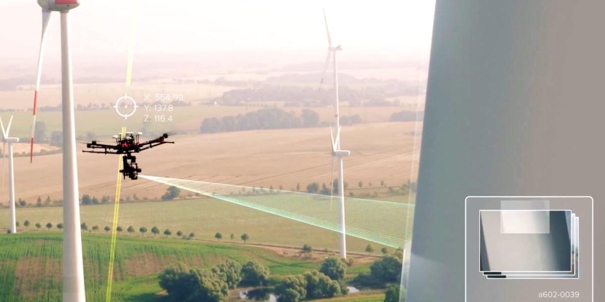 DJI Matrice 210 used for new drone-based wind turbine blade inspection platform