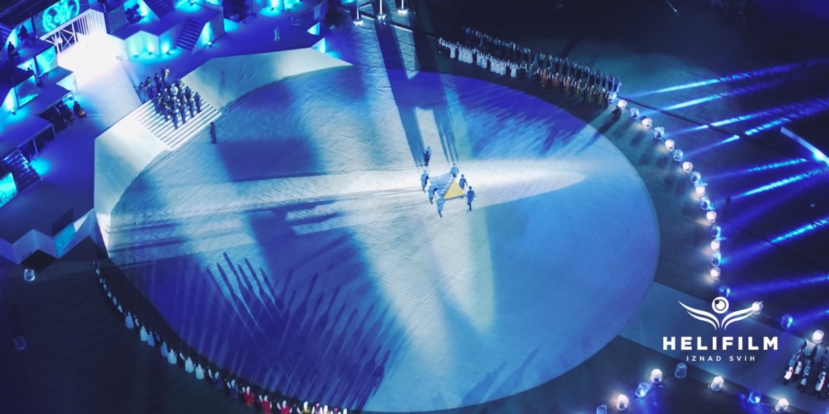 Drone footage of the opening of the European Youth Olympic Festival