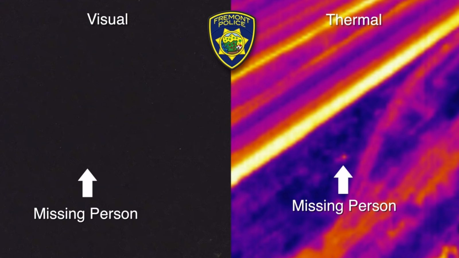 Fremont Police use drone with FLIR camera to find missing
