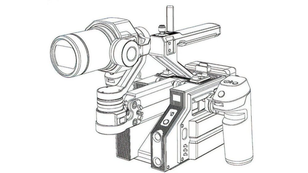 Leaked photo and drawing of new gimbal-stabilized DJI camera