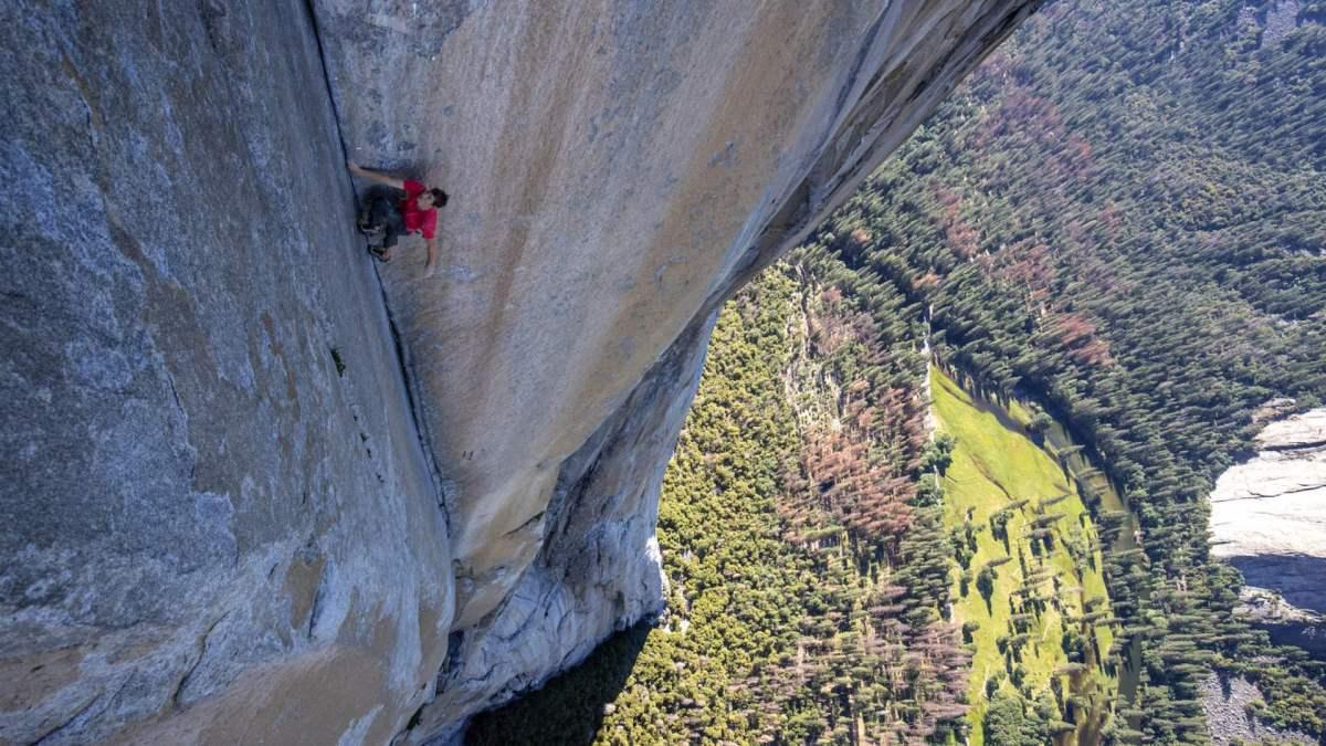 No drone shots in Free Solo movie about Alex Honnold climbing El Cap?