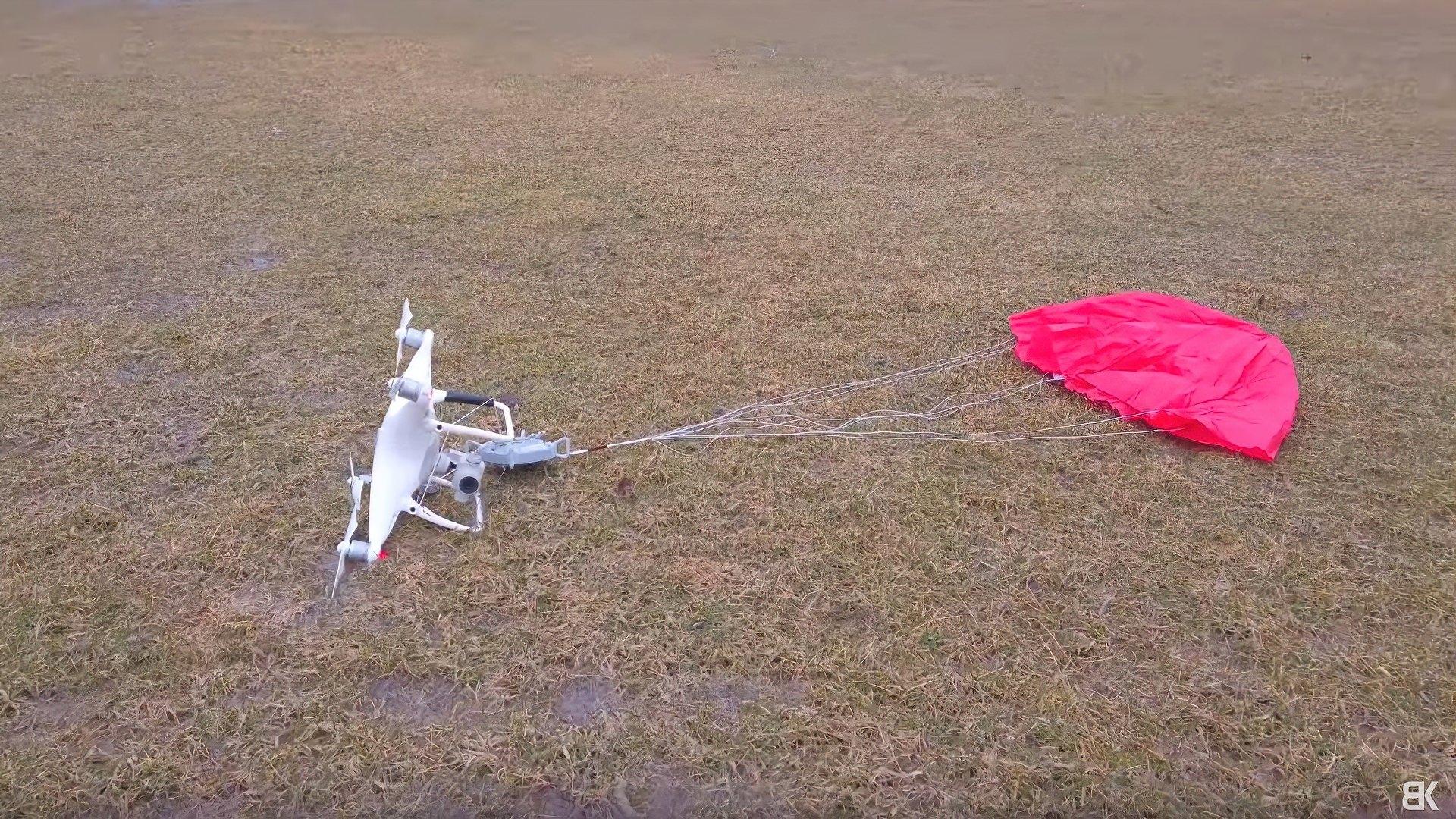 ParaZero SafeAir parachute system tested on DJI Phantom