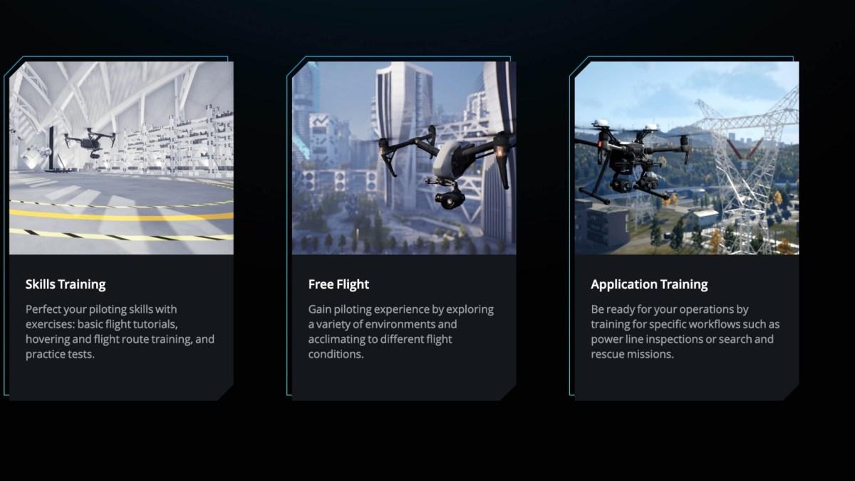 DJI Flight Simulator software
