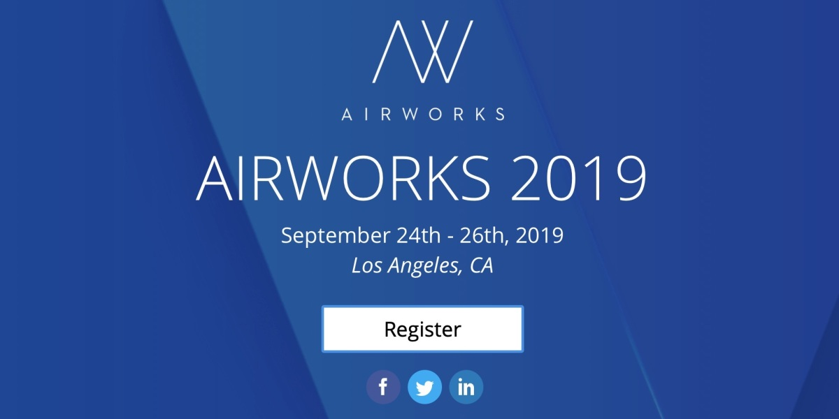 DJI Airworks will take place on September 24th - 26th in Los Angeles, CA