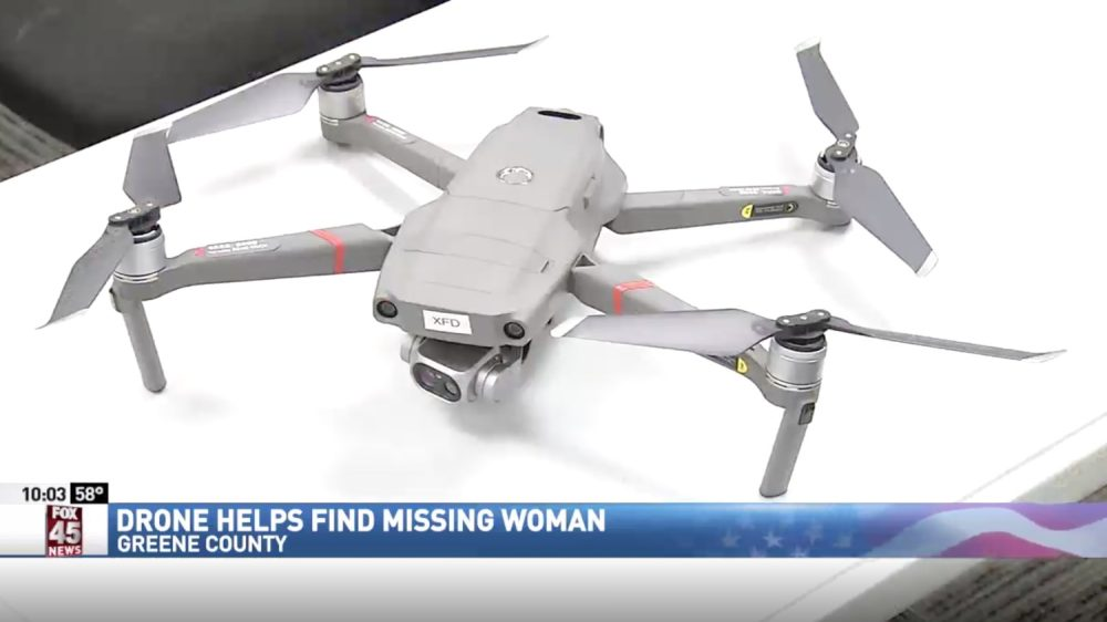 Drone helps find 90-year-old woman who suffers from dementia