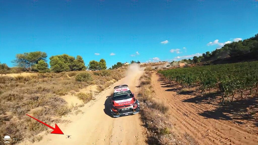 Today's drone video - FPV race drone vs. Sebastien Loeb