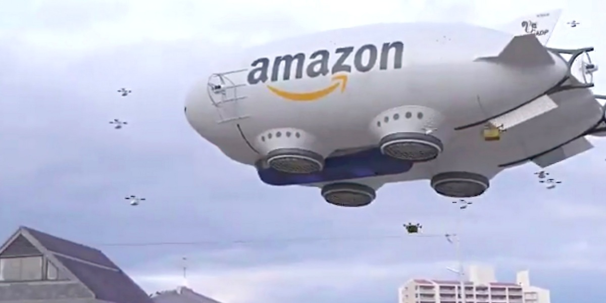 Video impression of drone future according to Amazon