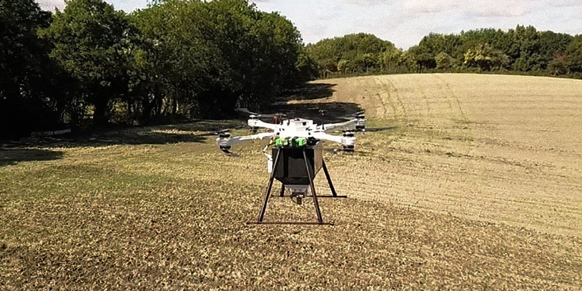 Without the help of drones, planting a billion trees would take a long time