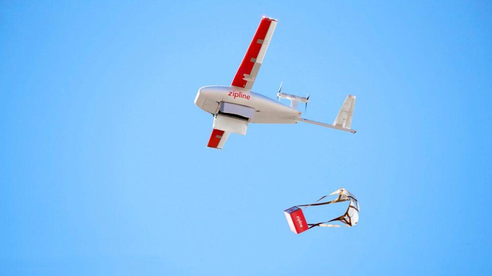 rwanda drone delivery covid-19