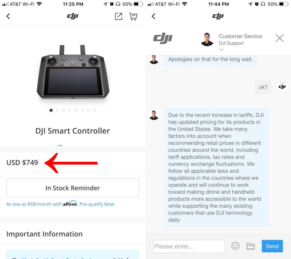 DJI raises price of Smart Controller to $749