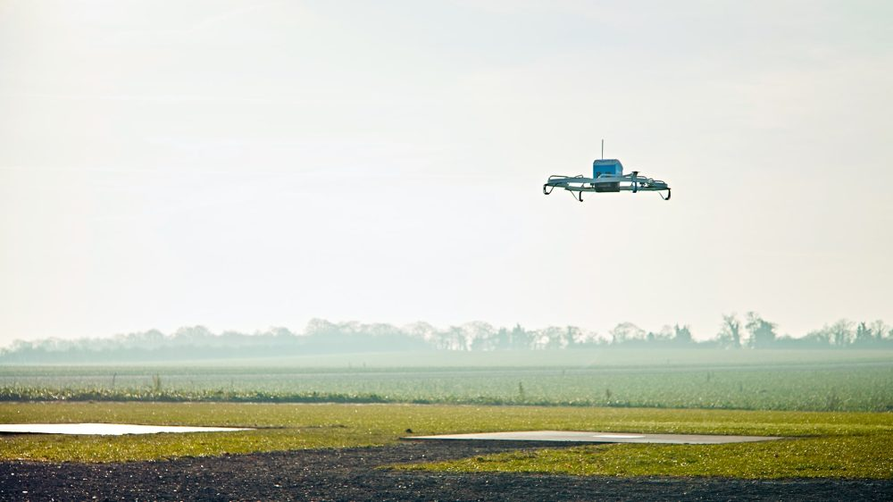 Amazon Prime Air drone wide shot