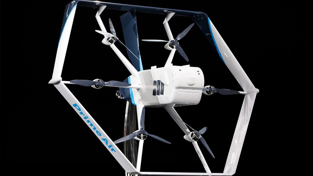 Amazon Prime Air new drone close up
