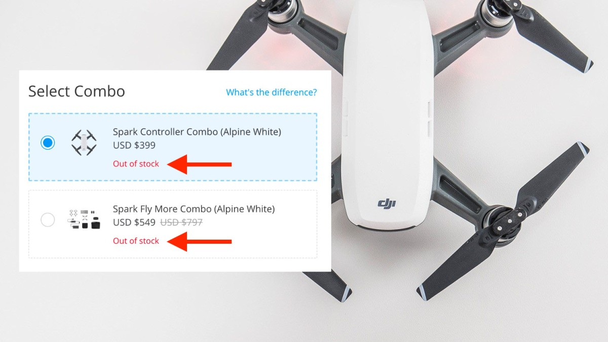 DJI Spark out of stock