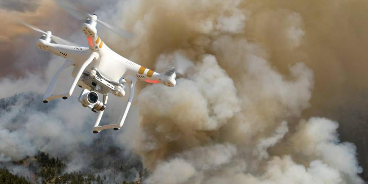 drones light fire