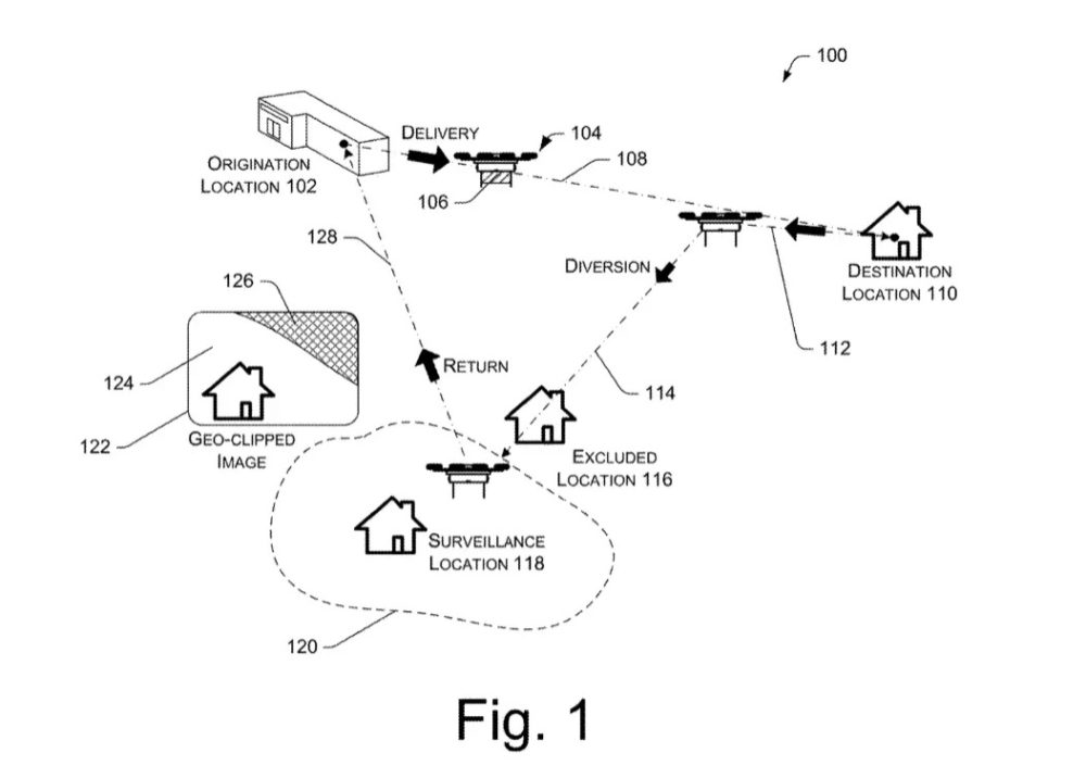 Amazon delivery drones to spy on your home, patent shows