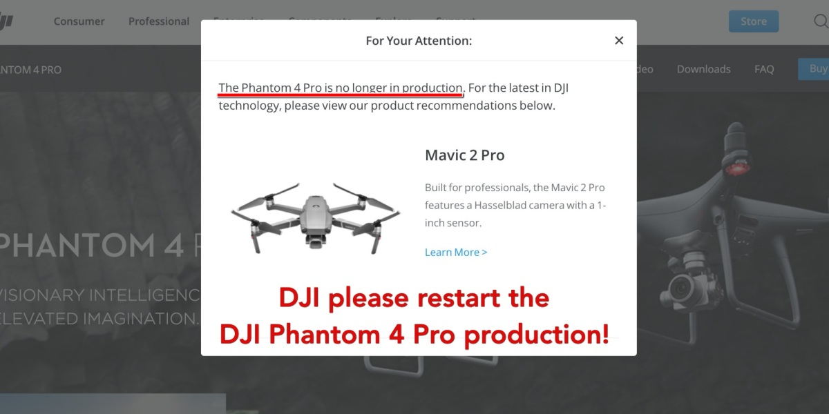 DJI Phantom 4 Pro production should be restarted by Chinese drone maker.