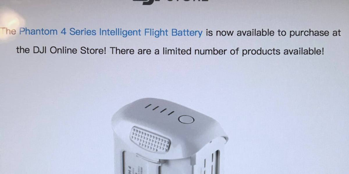DJI Phantom 4 Series Intelligent Flight Battery in stock, only to sell out immediately