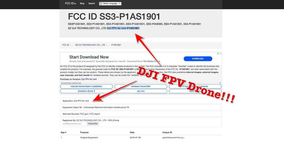 DJI will release FPV drone, goggles and remote control say FCC filings