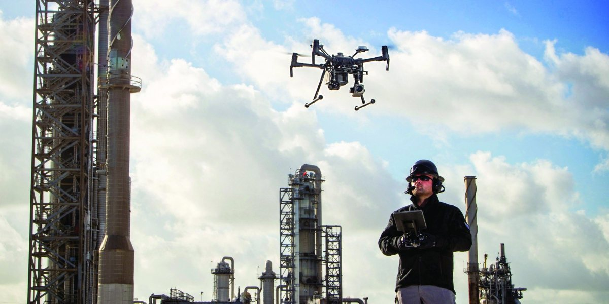 Drones keep workers safe from dangerous work
