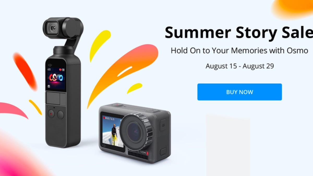 DJI Summer Story Sale Promotion on DJI Osmo Pocket and Osmo Action