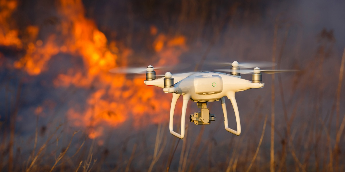 rogue drone stopped firefighters