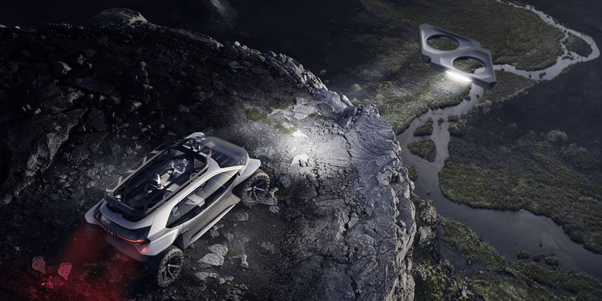 Drones for headlights for new Audi EV off-road concept car