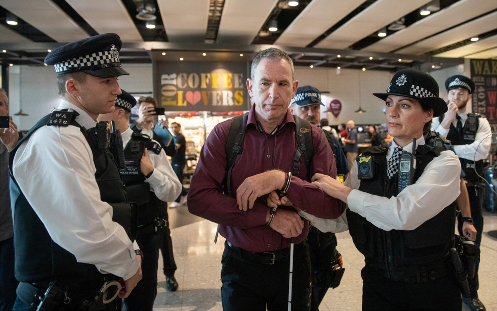 Heathrow Pause protesters arrested and drone jamming technology used