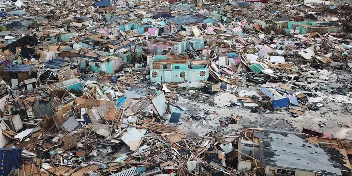 Hurricane Dorian aftermath drone video