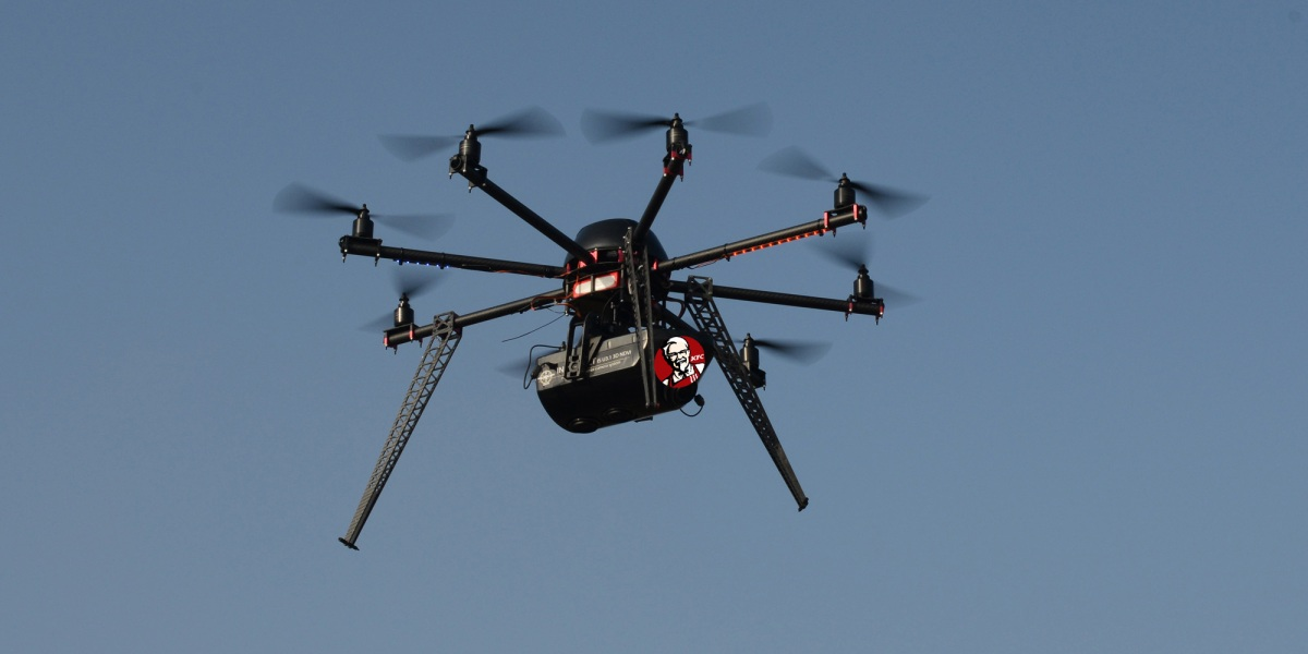 KFC drone delivery china