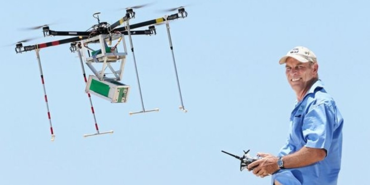 Celebrating the life of a loved one by scattering their ashes by drone