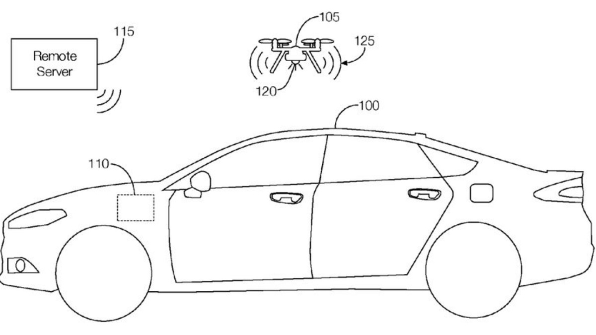 Ford patents drone that flies out of trunk in emergency
