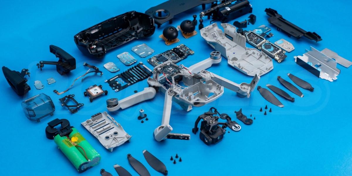 See inside the DJI Mavic Mini remote controller and the drone