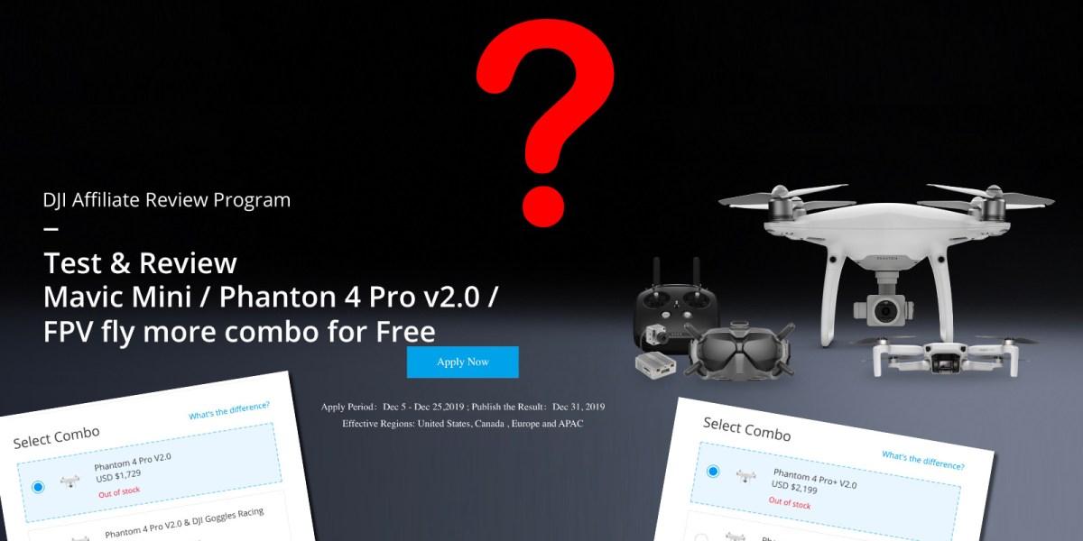 DJI wants their DJI Phantom 4 Pro V2.0 reviewed. Why?