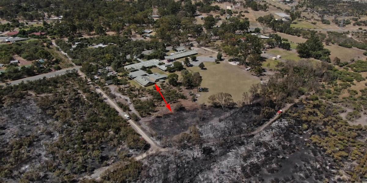 Forrestdale bushfire drone photo