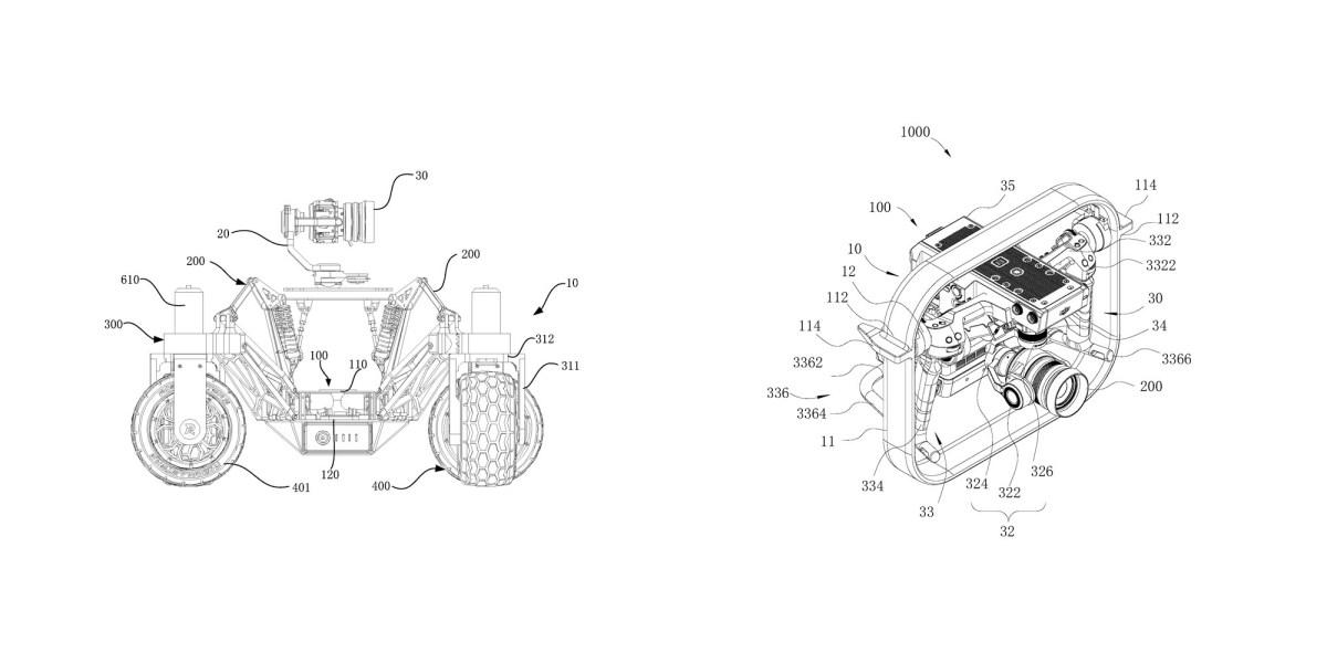 dji camera car new gimbal patent
